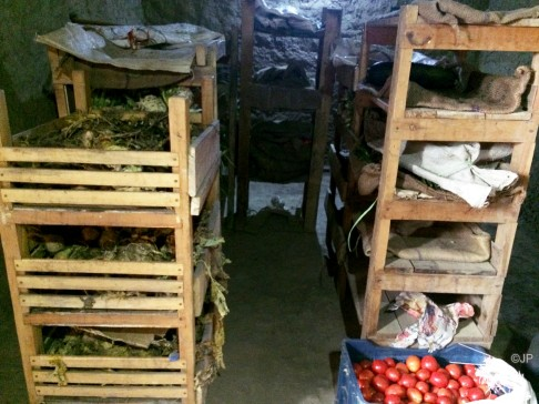 Vegetables stored for the winter