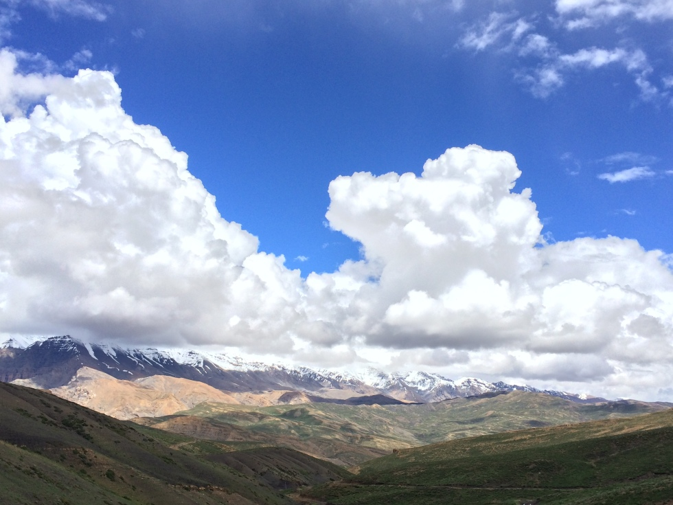 On the way from Kibber to Gette, Spiti Valley, India