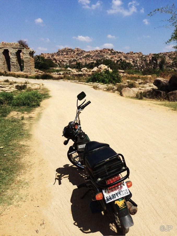 Riding through Anegundi